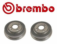 Pair Set of Rear Left & Right Civic Brake Drums Brembo Honda Civic Accord  21056