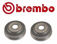 Set of 2 Rear Civic Brake Drums Brembo For: Honda Civic Fit Accord 2.0L 21056