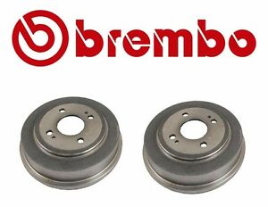 NEW Pair Set of Rear Left and Right Brake Drums Brembo for Honda Civic Accord