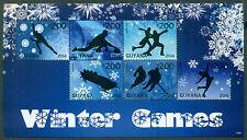 GUYANA SOCHI OLYMPICS II WINTER GAMES, SHEET OF 6, MINT, OG, NH, GREAT PRICE!