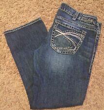 Silver Jeans Santorini Cropped Capri Straight Dark Wash Womens Fits Like Sz 12