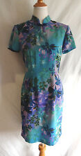 Connected Apparel Size 6 Asian Inspired Kimono Neck Style Floral Ombre Dress