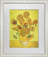 "Vincent Van GOGH Lithograph Ltd. Ed. Sign ""Sunflowers"" 1937 w/Archival Frame"