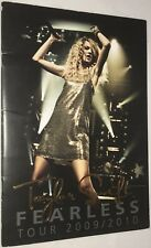 Taylor Swift Fearless Tour 2009 / 2010 Embossed Concert Program Booklet