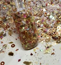 glitter mix acrylic gel nail art    EARTH SHATTERING