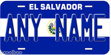 El Salvador Flag Any Name Novelty Car License Plate