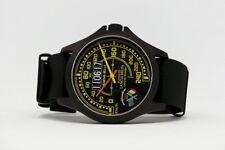 Orologio Lancia Delta Limited Edition Watch Cassa PVD 44mm Nato Strap Black