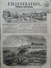 L' ILLUSTRATION 1856 N 705 LA VILLA EUGENIE,  RESIDENCE IMPERIALE A BIARRITZ