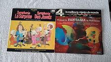 lot 2 33t walt disney fantasia et la symphonie des jouets