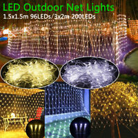 96/300 LED Christmas Xmas String Fairy Lamp Wedding Party Curtain Outdoor Lights
