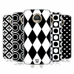 HEAD CASE DESIGNS BLACK AND WHITE PATTERNS SOFT GEL CASE FOR MOTOROLA PHONES