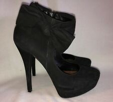 SCHUTZ PLATFORM STILETTO HEELS PUMPS BLACK BOWS BOW SZ 9 EU 41