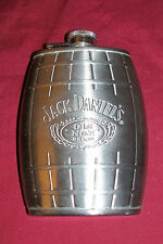 Jack Daniel's 6 Ounce Oz Flask Vest Pocket Stainless Steel Whisky Whiskey Liquor