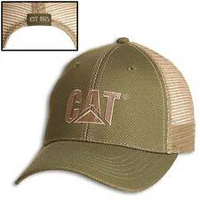Caterpillar CAT Equipment Green Tweed Twill/Tan Mesh Cap