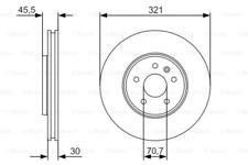 2x Bremsscheibe für Bremsanlage Vorderachse BOSCH 0 986 479 667