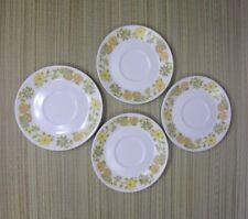 NORITAKE PROGRESSION CHINA SUNNY SIDE 4 Saucers Plates Floral White Yellow