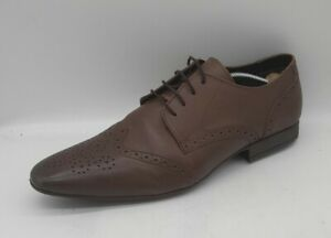 Men's MOSS London Size 11 UK Brown Leather Brogue Dress Laced In VGUC