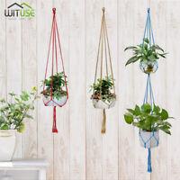 Colorful Plant Basket Hanger Rope for Flower Pot Holder Hanging Planter 1/2Layer