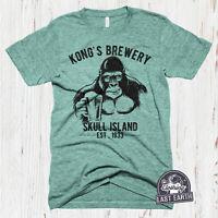 King Kong Beer Shirt Funny Vintage Beer Tshirt Brewery Graphic Tee Mens Shirts