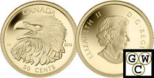 2013 Proof 50-Cent 'Bald Eagle' 1/25oz Gold Coin .9999 Fine (13172)(NT)