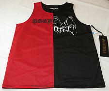 BEEN TRILL # BEENTRILL Mesh Tank Top gym XL xlarge Men's black red RARE NEW