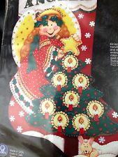 "Angela's Star 18"":Christmas Stocking Kit, Applique Felt Sequins 28-137A"