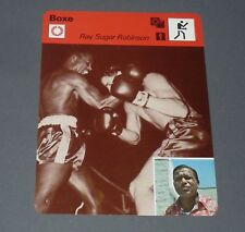 FICHE BOXE BOXING RAY SUGAR ROBINSON POIDS PLUMES LEGERS WELTERS
