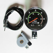 New Analog Speedometer Odometer Classic Style for exercycle & Bike Cycling Black