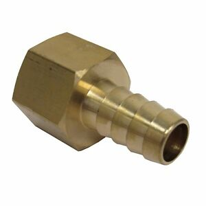 NEW (2) PK. BRASS 1/2 IN. FNPT X HOSE BARB STRAIGHT FITTING FOR 1/2 IN. ID HOSE