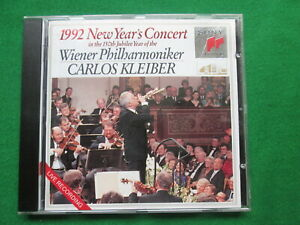 VIENNA PHILHARMONIC - 1992 NEW YEARS CONCERT LIVE - KLEIBER - SONY CLASSICAL CD