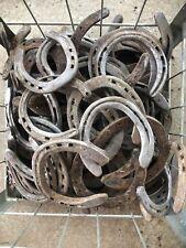 50 Used Horseshoes Steel