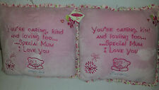 2 X Me to You Ours Tatty Teddy maman rose verset Coussin Oreiller Cadeau