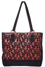 BETTIE PAGE BLACK RED TOTE TOTEBAG BAG PURSE ROCKABILLY PINUP SOURPUSS