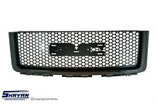 FITS:  GMC SIERRA 2007 2008 2009 2010 2011 UPPER FRONT GRILLE GLOSSY BLACK