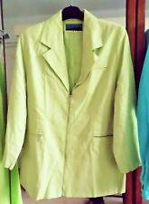 veste vert anis doublée -fermeture longue tirette 44 L