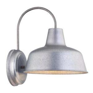 "Portfolio Ellicott 13"" Galvanized Dark Sky Outdoor Wall Light w/ LED Bulb"