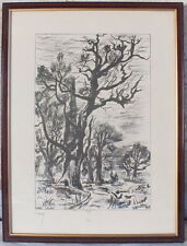 litho lithographie paysage arbres n° 442/450 Marc Laury