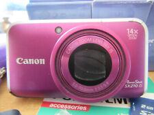 Canon PowerShot SX210 IS 14.1MP Digital Camera -PURPLE-V.G.C.