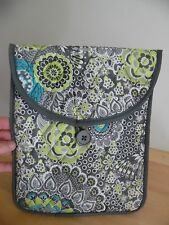"STUDIO C Tech iPad Tablet Sleeve Case Padded Cover Fits 10"" Paisley Grey"