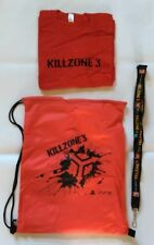 PlayStation 3 Killzone 3 E3 2010 Promo Gift Bag, Bag,Lanyard & T-Shirt Size XL