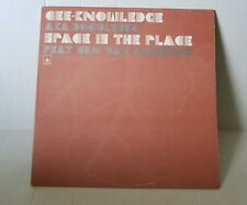 SUN RA Cee Knowledge doodlebug- Space is the place LP  Counterflow records RARE