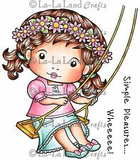 Swing Marci Stamp Set Cling Unmounted Rubber Stamp La La Land Crafts 5209 New