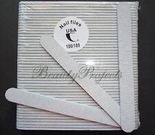 "(50pcs) Professional Acrylic Nail File 180/180 Grit Zebra Sanding Files 7"" NEW"