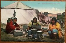 1911 Postcard Eskimo Women Preparing A Meal Copyright 1904