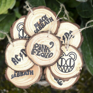 Rock Metal Band Wooden Hanging Decoration or Magnet Rustic Wood Home Car Music