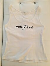 Mango MNG Stretch Crop Top Shirt Mango Touch Weiß Schwarz Basic XXS-XS 32-34