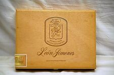 Vintage Leon Jimenes No. 2 Wood Wooden Cigar Box Tobacciana Smoking Tool Storage