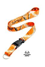 Orange Camo Realtree Hunting Lanyard With Quick Release Key Ring