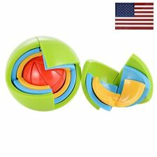 3D Magic Puzzle Ball Plastic Intellectual Ball Maze Kids Toy Brain Teaser Game