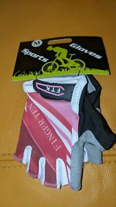Kids Finger Ten. cycling half finger gel gloves. Size M Age 4 - 7. F T K